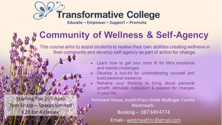 Community of Wellness and self agency transformative college mullingar co westmeath mental health support empowerment and promotion.jpg